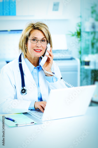 Mature woman doctor