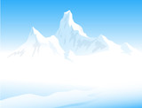 Beauty of Himalayas- Vector illustration