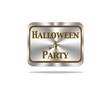 Halloween party button.