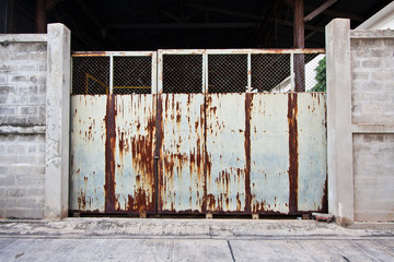 Rustic factory gate