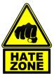 Постер, плакат: Зона ненависти Дорожный знак