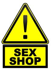 Sex shop. Дорожный знак