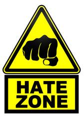 Зона ненависти. Дорожный знак