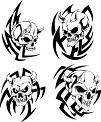 skulls with horns