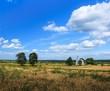 Сельский пейзаж с церковью.