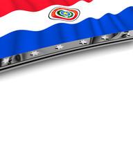 Designelement Flagge Paraguay
