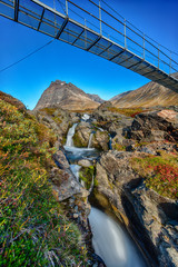 Hikingbridge in Lapland