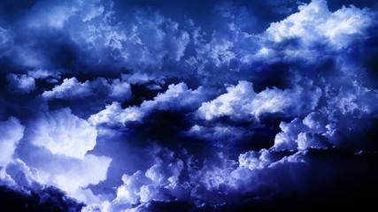 Lightning Thunderstorm in Sky