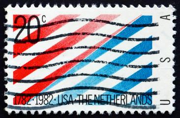 Postage stamp USA 1982 USA Netherlands Flag