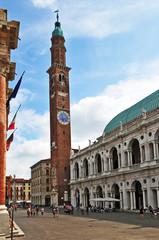Vicenza,  Basilica Palladiana e Torre Bissara