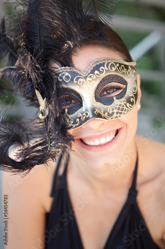 Sexy girl in carnival mask