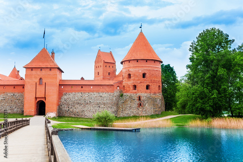 Bridge and gates of Trakai castle