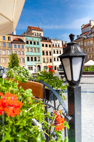 Cozy old town square in Warsaw © Sergey Novikov