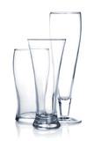 Empty beer glass set