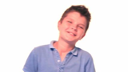 Close portrait of happy boy