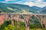 Bridge Durdevica and view Tara river gorge poster