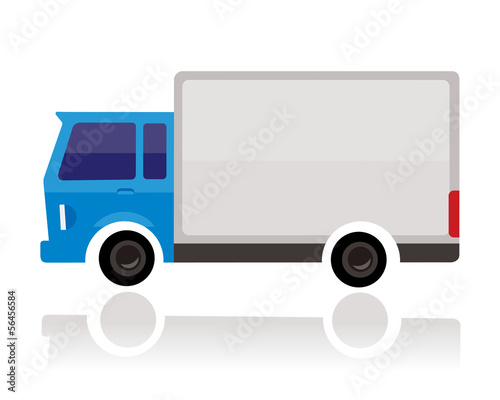 small truck, funny cartoon style