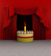 event cake celebration before show starts