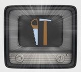 manual tools in retro television and flare