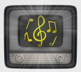 golden sound in retro television and flare