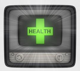 health cross in retro television and flare