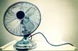 Vintage steel fan