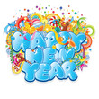 Happy New Year Title. Vector Design