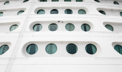 Round Porthole on Front of Ship