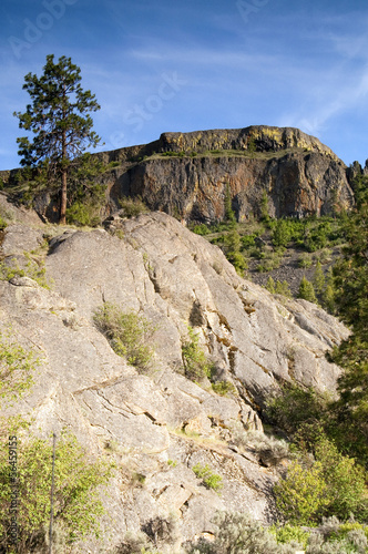 Rocky Ridge Outcroppings Near Banks Lake Washington State
