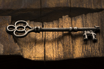 Skeleton Key on Wood