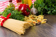 Italian spaghetti and vegetables
