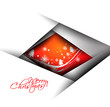 Modern christmas background design vector,