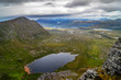 Scenic view from mountain peak in Scottish highlands