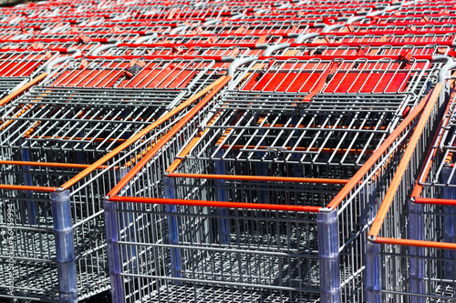 Shopping cart background.