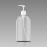 Clean liquid soap bottle template.