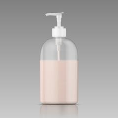 Plastic bottle for liquid soap.