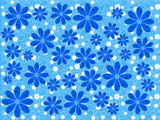 Blue Flower Art Pattern
