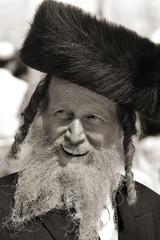 Religious Jews near the Wailing Wall in Jerusalem