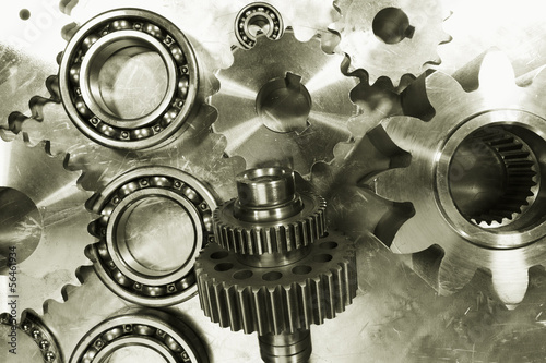 gears, pinions and cogs, steel and titanium parts