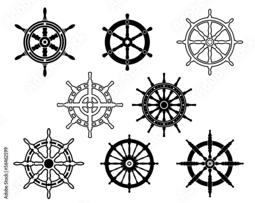Steering wheels set for heraldry design