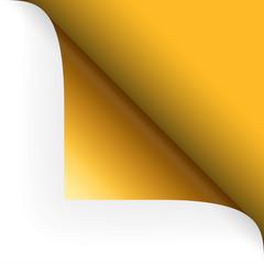 Papier - Ecke oben gelb