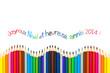 Voeux 2014 français, crayons de couleur vague