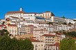 View of houses on the hill of Coimbra