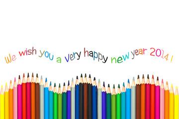 Season's greetings 2014, colored pencils