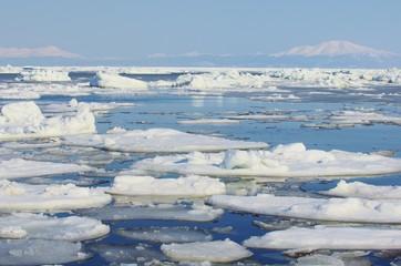 DRIFT ICE ice floe オホーツク海の流氷