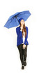 Hübsche Frau mit Regenschirm