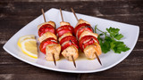 Chicken and vegetable kabobs