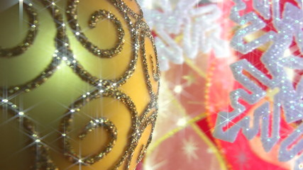 Christmas ball on a festive background