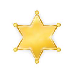 gold police star