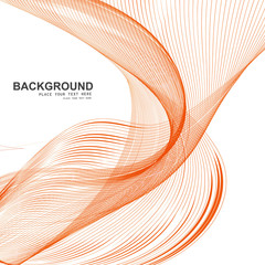 Stylish line colorful blend wave vector illustration